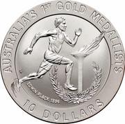 Australia 10 Dollars Edwin Flack 1994 KM# 225 AUSTRALIA'S 1ST GOLD MEDALISTS EDWIN FLACK 1896 10 DOLLARS HH coin reverse