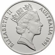 Australia 10 Dollars Jabiru 1991 KM# 156 ELIZABETH II AUSTRALIA 1991 RDM coin obverse