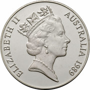 Australia 10 Dollars Kookaburra 1989 KM# 133 ELIZABETH II AUSTRALIA 1989 RDM coin obverse