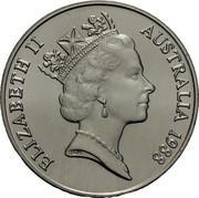 Australia 10 Dollars (Landing of Governor Philip) KM# 103 ELIZABETH II AUSTRALIA 1988 RDM coin obverse