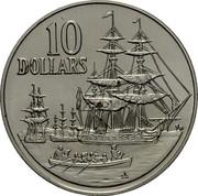 Australia 10 Dollars (Landing of Governor Philip) KM# 103 10 DOLLARS SD coin reverse