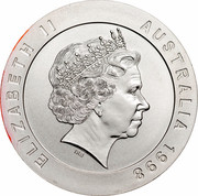 Australia 10 Dollars Melbourne 1998 KM# 388 ELIZABETH II AUSTRALIA 1998 IRB coin obverse