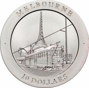 Australia 10 Dollars Melbourne 1998 KM# 388 MELBOURNE 10 DOLLARS coin reverse