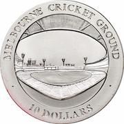 Australia 10 Dollars Melbourne Cricket Ground 1998 KM# 387 MELBOURNE CRICKET GROUND 10 DOLLARS. coin reverse
