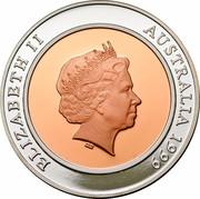 Australia 10 Dollars Millennium 1999 KM# 423 ELIZABETH II AUSTRALIA 1999 IRB coin obverse