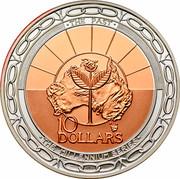 Australia 10 Dollars Millennium 1999 KM# 423 THE PAST 10 DOLLARS THE MILLENNIUM SERIES coin reverse