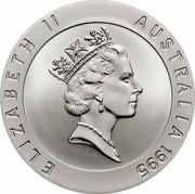 Australia 10 Dollars Murray Rose 1995 KM# 302 ELIZABETH II AUSTRALIA 1995 RDM coin obverse
