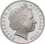 Australia 10 Dollars Northern Hairy-Nosed Wombat 1998 KM# 397 ELIZABETH II AUSTRALIA 1998 IRB coin obverse