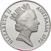 Australia 10 Dollars (Northern Territory) KM# 188 ELIZABETH II AUSTRALIA 1992 RDM coin obverse
