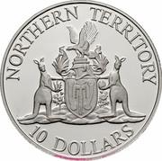 Australia 10 Dollars (Northern Territory) KM# 188 NORTHERN TERRITORY 10 DOLLARS coin reverse