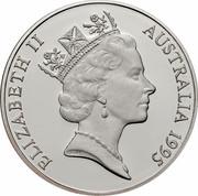 Australia 10 Dollars Numbat 1995 KM# 296 ELIZABETH II AUSTRALIA 1995 RDM coin obverse