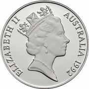 Australia 10 Dollars Penguin 1992 KM# 199 ELIZABETH II AUSTRALIA 1992 RDM coin obverse