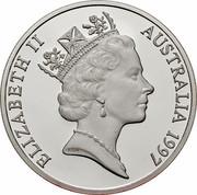 Australia 10 Dollars Red-tailed Black-Cockatoo 1997 KM# 367.2 ELIZABETH II AUSTRALIA 1997 RDM coin obverse