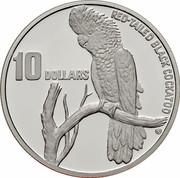 Australia 10 Dollars Red-tailed Black-Cockatoo 1997 KM# 367.2 RED-TAILED BLACK COCKTATOO 10 DOLLARS coin reverse
