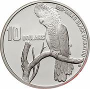 Australia 10 Dollars Red-tailed Black-Cockatoo 1997 KM# 367.1 RED-TAILED BLACK COCKTATOO 10 DOLLARS coin reverse