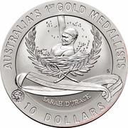 Australia 10 Dollars Sarah Durack 1994 KM# 226 AUSTRALIA'S 1ST GOLD MEDALISTS SARAH DURACK 10 DOLLARS coin reverse