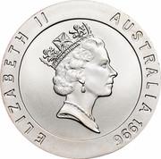 Australia 10 Dollars Shirley Strickland 1996 KM# 316 ELIZABETH II AUSTRALIA 1996 RDM coin obverse