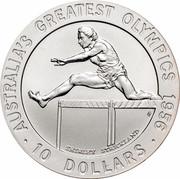 Australia 10 Dollars Shirley Strickland 1996 KM# 316 AUSTRALIA'S GREATEST OLYMPICS 1956 SHIRLEY STRICKLAND 10 DOLLARS HH coin reverse