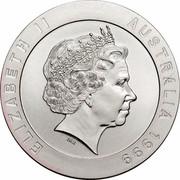 Australia 10 Dollars Snowy Mountains 'The Tunnel' 1999 KM# 414 ELIZABETH II AUSTRALIA 1999 IRB coin obverse