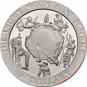 Australia 10 Dollars Snowy Mountains 'The Tunnel' 1999 KM# 414 THE SNOWY MOUNTAINS SCHEME 10 DOLLARS coin reverse