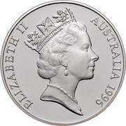 Australia 10 Dollars Southern Right Whale 1996 KM# 314 ELIZABETH II AUSTRALIA 1996 RDM coin obverse