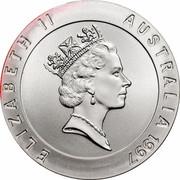 Australia 10 Dollars Sydney Harbour Bridge 1997 KM# 354 ELIZABETH II AUSTRALIA 1997 RDM coin obverse