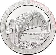 Australia 10 Dollars Sydney Harbour Bridge 1997 KM# 354 SYDNEY HARBOUR BRIDGE 10 DOLLARS HH coin reverse