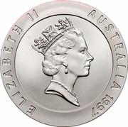 Australia 10 Dollars Sydney Opera House 1997 KM# 353 ELIZABETH II AUSTRALIA 1997 RDM coin obverse