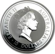 Australia 10 Dollars The Australian Kookaburra 1997 KM# 351 ELIZABETH II AUSTRALIA 10 DOLLARS RDM coin obverse