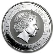 Australia 10 Dollars The Australian Kookaburra 2001 KM# 446 ELIZABETH II AUSTRALIA 10 DOLLARS IRB coin obverse