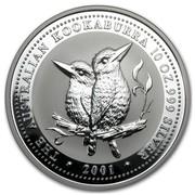 Australia 10 Dollars The Australian Kookaburra 2001 KM# 446 THE AUSTRALIAN KOOKABURRA 10 OZ. 999 SILVER 2001 coin reverse