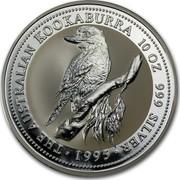 Australia 10 Dollars (The Australian Kookaburra) KM# 270 THE AUSTRALIAN KOOKABURRA 10 OZ 999 SILVER 1995 coin reverse