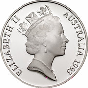 Australia 10 Dollars UNEP Cockatoo 1993 KM# 317 ELIZABETH II AUSTRALIA 1993 RDM coin obverse