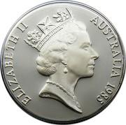 Australia 10 Dollars Victoria 1985 KM# 85 ELIZABETH II AUSTRALIA 1985 RDM coin obverse