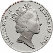 Australia 10 Dollars Wedge-tailed Eagle 1994 KM# 223 ELIZABETH II AUSTRALIA 1994 RDM coin obverse
