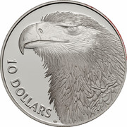 Australia 10 Dollars Wedge-tailed Eagle 1994 KM# 223 10 DOLLARS HH coin reverse