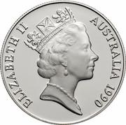 Australia 10 Dollars (Western Australia) KM# 137 ELIZABETH II AUSTRALIA 1990 RDM coin obverse