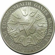 Australia 10 Dollars XII Commonwealth Games 1982 KM# 75 XII COMMONWEALTH GAMES BRISBANE : 10 DOLLARS : coin reverse