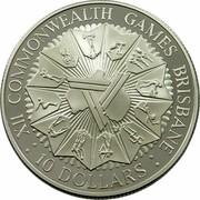 Australia 10 Dollars XII Commonwealth Games 1982 KM# 75 XII COMMONWEALTH GAMES BRISBANE : 10 DOLLARS : coin reverse