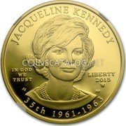 USA $ 10 Jacqueline Kennedy 2015 W Proof JACQUELINE KENNEDY IN GOD WE TRUST LIBERTY 2015 W SG PH 35TH 1961-1963 coin obverse