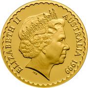 Australia 100 Dollars Common Heath Flower 1999 KM# 487 ELIZABETH II AUSTRALIA 1999 IRB coin obverse