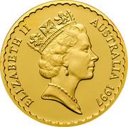 Australia 100 Dollars Kangaroo Paw Flower 1997 KM# 384 ELIZABETH II AUSTRALIA 1997 RDM coin obverse