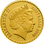 Australia 100 Dollars Orchid 2000 KM# 512 ELIZABETH II AUSTRALIA 2000 IRB coin obverse