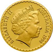 Australia 100 Dollars Stuart Desert Rose 1998 KM# 480 ELIZABETH II AUSTRALIA 1998 IRB coin obverse