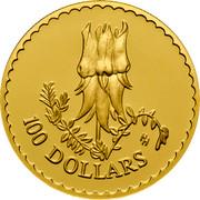 Australia 100 Dollars Stuart Desert Rose 1998 KM# 480 100 DOLLARS HH coin reverse