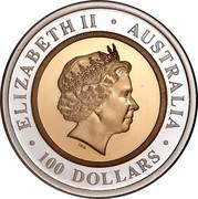 Australia 100 Dollars The Sovereign 1999 KM# 474 ELIZABETH II AUSTRALIA 100 DOLLARS IRB coin obverse