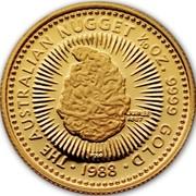 Australia 15 Dollars Jubilee Nugget 1988 P Proof KM# 104 coin obverse