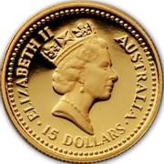 Australia 15 Dollars Jubilee Nugget 1988 P Proof KM# 104 coin reverse