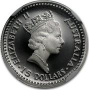 Australia 15 Dollars Koala 1992 KM# 171 ELIZABETH II AUSTRALIA 15 DOLLARS coin obverse