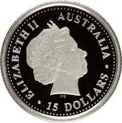 Australia 15 Dollars Koala 2000 KM# 470 ELIZABETH II AUSTRALIA 15 DOLLARS coin obverse